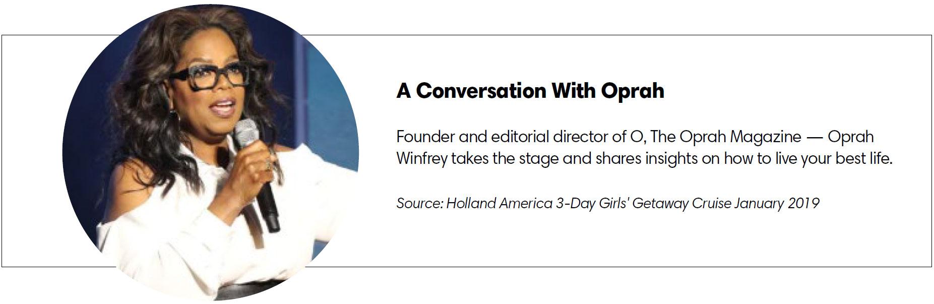 A conversation with Oprah